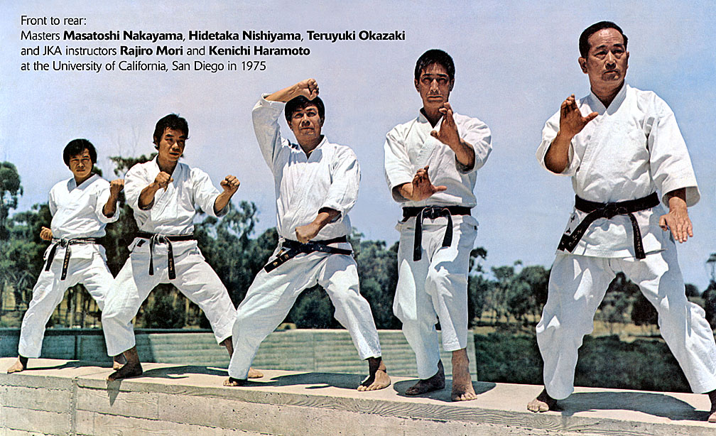 Photo of Sensei Haramoto with karate legends